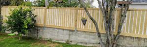 fence on conrete